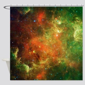 Green Space Dust Shower Curtain