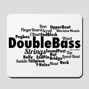 Double Bass Word Cloud Mousepad