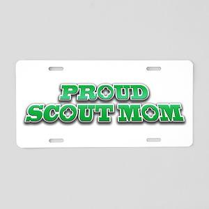 Proud Scout Mom Aluminum License Plate