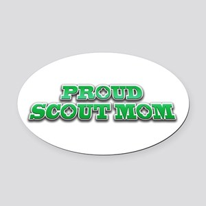 Proud Scout Mom Oval Car Magnet