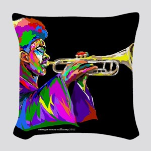 Music Series Woven Throw Pillow