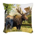 Moose Woven Throw Pillow