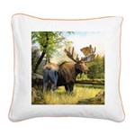 Moose Square Canvas Pillow
