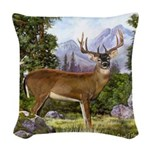 White Tailed Deer Woven Throw Pillow