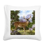 White Tailed Deer Square Canvas Pillow