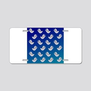 Peace Doves Aluminum License Plate