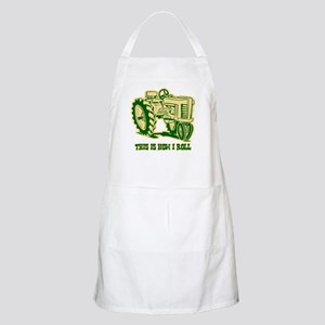 This Is How I Roll Tractor GRN BBQ Apron