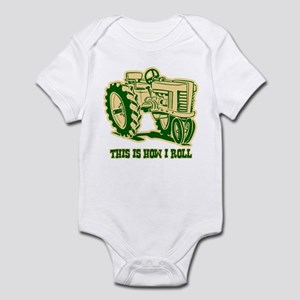 This Is How I Roll Tractor GRN Infant Bodysuit