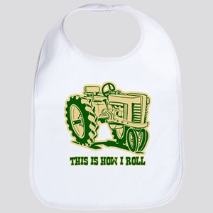 This Is How I Roll Tractor GRN Bib