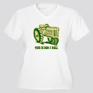 This Is How I Roll Tractor GRN Women's Plus Size V