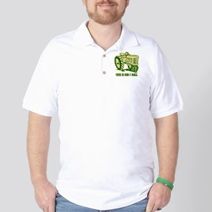 This Is How I Roll Tractor GRN Golf Shirt