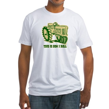 This Is How I Roll Tractor GRN Fitted T-Shirt