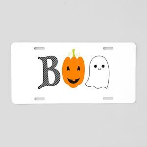 Boo Aluminum License Plate