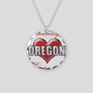 Somebody In Oregon Loves Me Necklace Circle Charm