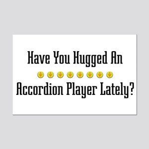 Hugged Accordion Player Mini Poster Print