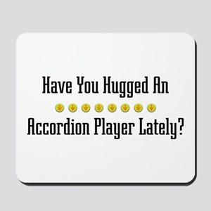 Hugged Accordion Player Mousepad