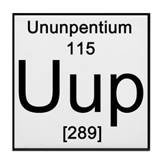 Periodic Table Ununpentium Tile Coaster