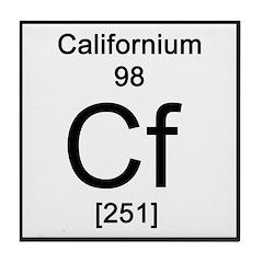 Periodic Table Californium Tile Coaster