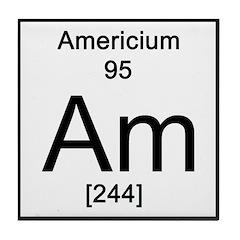 Periodic Table Americium Tile Coaster