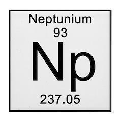 Periodic Table Neptunium Tile Coaster