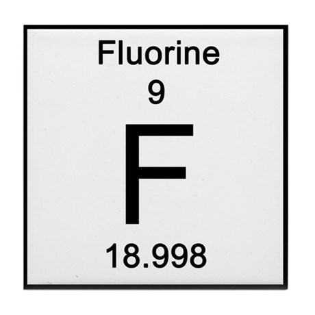 Element Periodic Table >> Periodic Table Fluorine Tile Coaster by Science_Lady