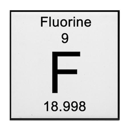Periodic table fluorine tile coaster by sciencelady urtaz Images