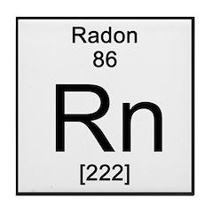 Periodic Table Radon Tile Coaster