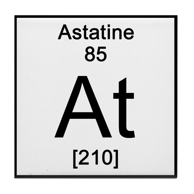 Periodic table astatine tile coaster by sciencelady urtaz Gallery