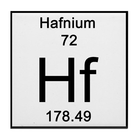 Periodic Table Hafnium Tile Coaster By Science Lady