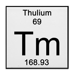 Periodic Table Thulium Tile Coaster