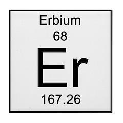 Periodic Table Erbium Tile Coaster