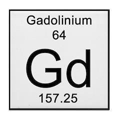 Periodic Table Gadolinium Tile Coaster