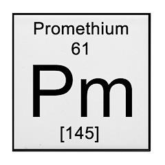 Periodic Table Promethium Tile Coaster