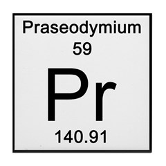 Periodic Table Praseodymium Tile Coaster
