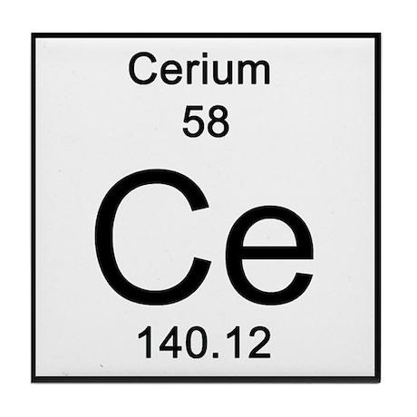 Periodic table cerium tile coaster by sciencelady urtaz Images