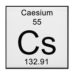 Periodic Table Caesium Tile Coaster