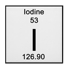 Periodic Table Iodine Tile Coaster