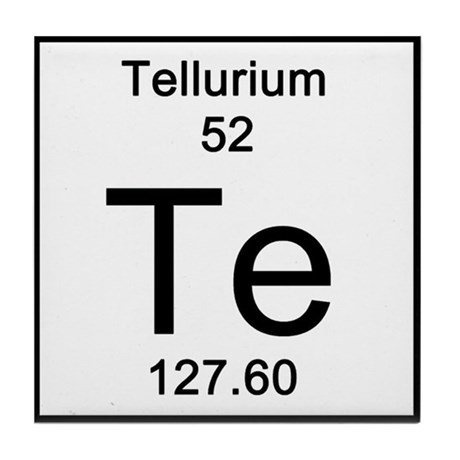Periodic Table Tellurium Tile Coaster By Science Lady