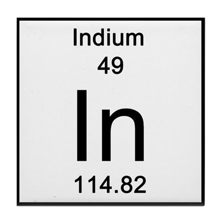 Periodic Table Indium Tile Coaster By Science Lady