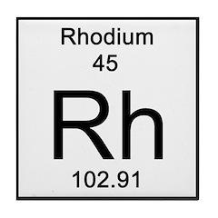 Periodic Table Rhodium Tile Coaster