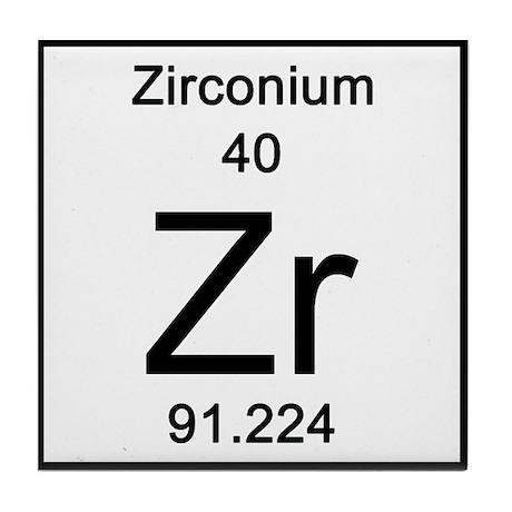 Periodic Table Zirconium Tile Coaster By Sciencelady