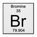 Periodic Table Bromine Tile Coaster