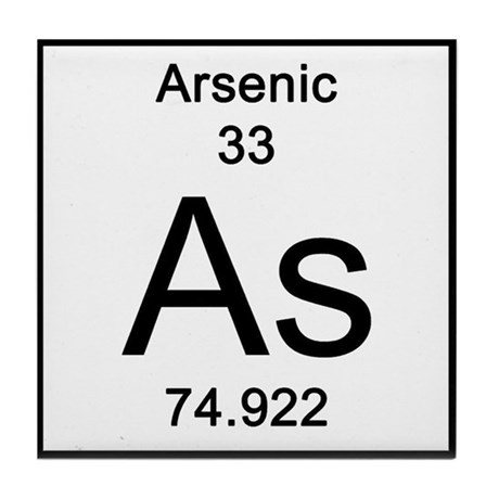 60th Anniversary Gifts >> Periodic Table Arsenic Tile Coaster by Science_Lady