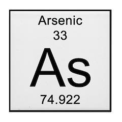 Periodic Table Arsenic Tile Coaster