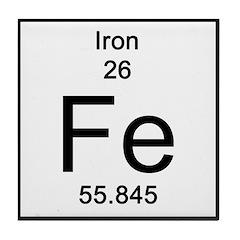 Periodic Table Iron Tile Coaster
