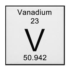 Periodic Table Vanadium Tile Coaster