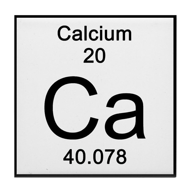 Periodic Table Calcium Tile Coaster By Sciencelady