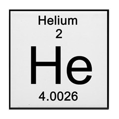 Periodic Table Helium Tile Coaster
