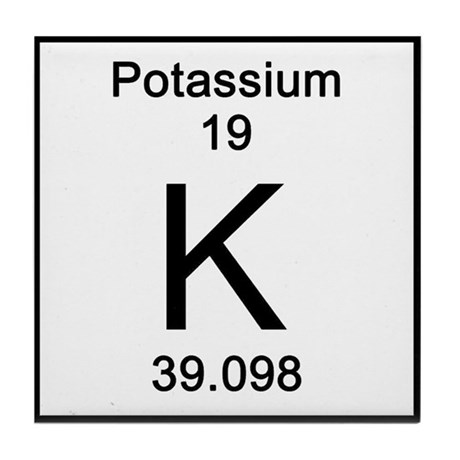 Periodic Table Potassium Tile Coaster By Sciencelady