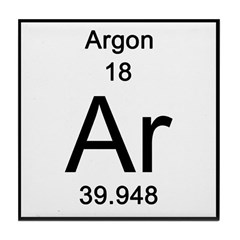 Periodic Table Argon Tile Coaster